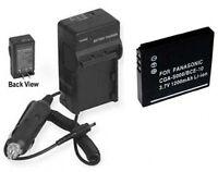 Battery + Charger For Panasonic Dmc-fx33a Dmc-fx33s Sdr-sw20p Dmc-fx37s Dmcfx37