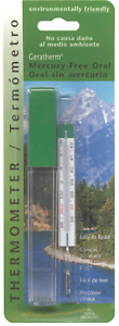 GeraTherm Mercury Free Oral Thermometer Dual Scale F° & C° with Case #20030 NEW