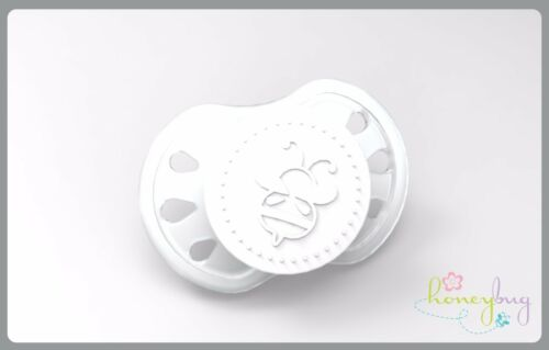 Honeybug PREEMIE Magnetic Pacifier reborn art doll MILKY clear with white cap