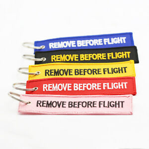 Cool-Remove-Before-Flight-Embroidered-Canvas-Special-Luggage-Tag-Label-Key-Ring