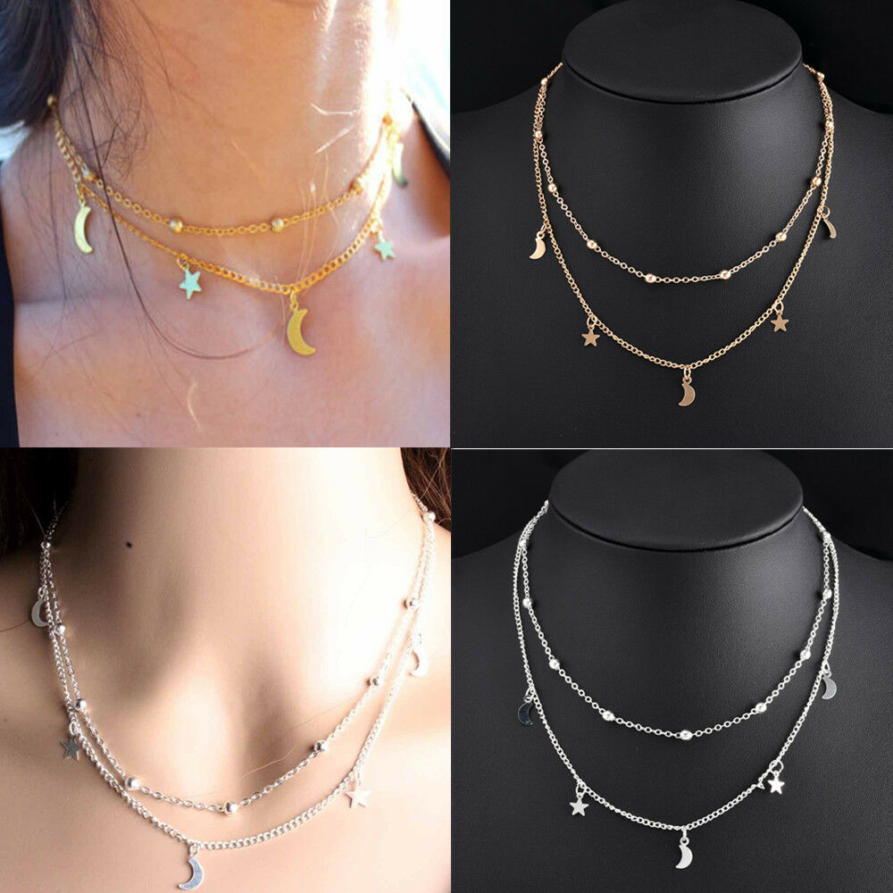 $1.99 - Fashion Women Charm Jewelry Pendant Chain Choker Chunky Bib Statement Necklace