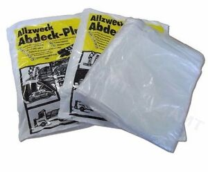 10 large dust sheets 4m x 5m clear plastic polythene. Black Bedroom Furniture Sets. Home Design Ideas
