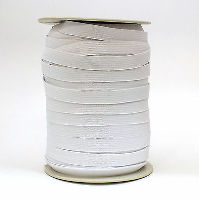 144 Yard//ro Fast Shipping From US White New Soft Elastic 1//4 inch 1 Roll