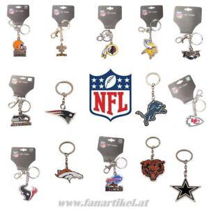 NFL Football Schlüsselanhänger - alle Teams - Seahawks Patriots Packers Raiders