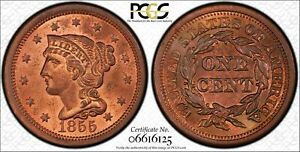 1855-N-4-Upright-55-1C-PCGS-MS64RB-PCGS-TrueView-1-Large-Cent-One-Penny-Cents