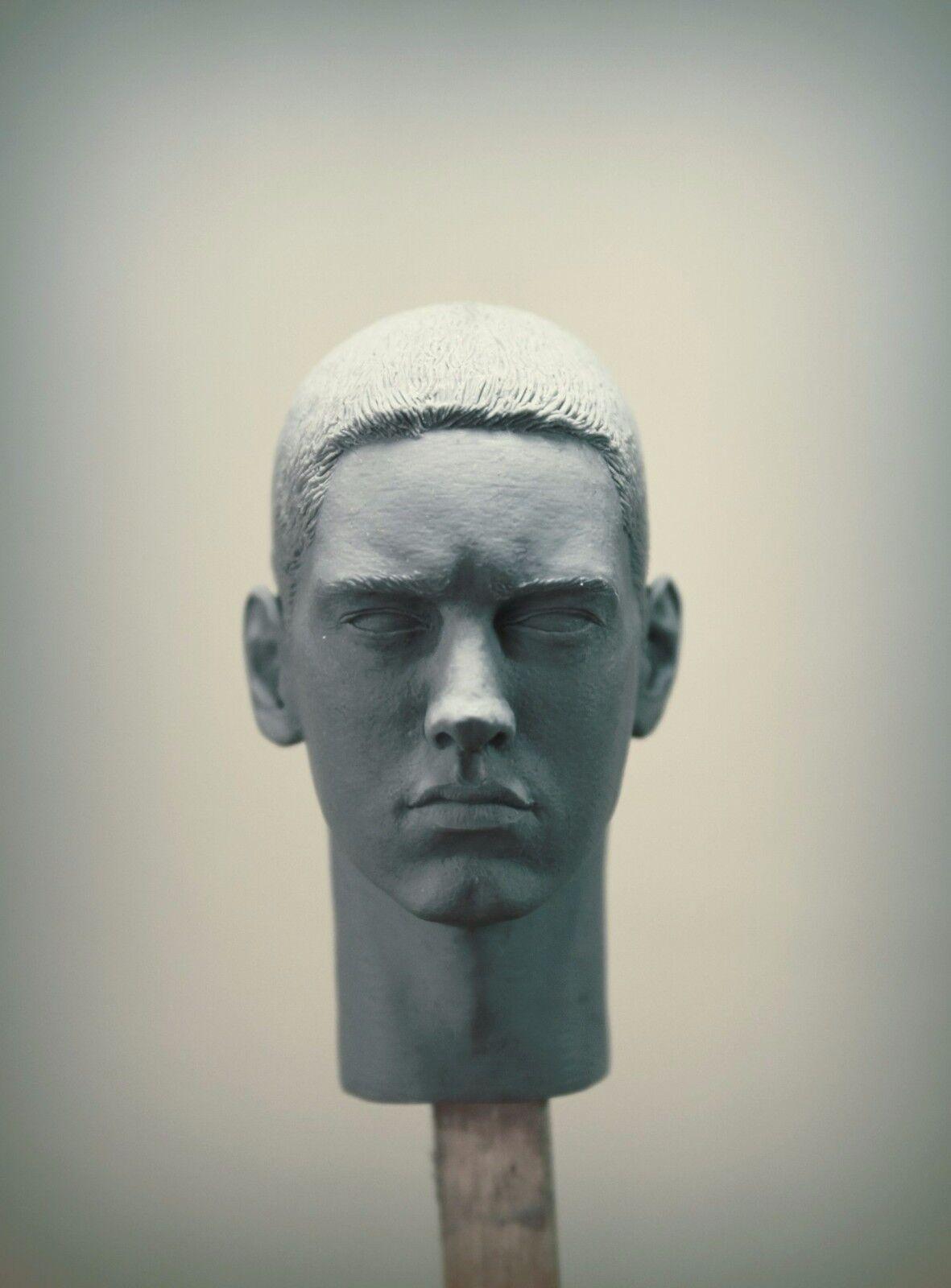 Unpainted Custom Sculpt head Eminem 1//6 Scale Marshall Mathers Slim Shady