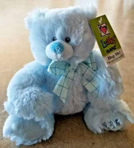 Baby Ganz My First Teddy Bear Plush Blue Hug Me! I'm soft and cuddly! BG2766 NWT