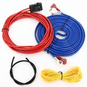 Set Verstärker Endstufe Anschluss Kabel Chinch Remote Sicherung 4mm² ...