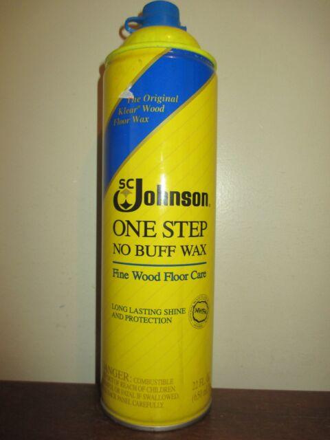 Sc Johnson One Step No Buff Wax Fine Wood Floor Care 22 Fl Oz One