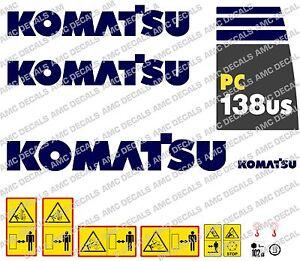 KOMATSU PC138US DIGGER DECAL STICKER SET