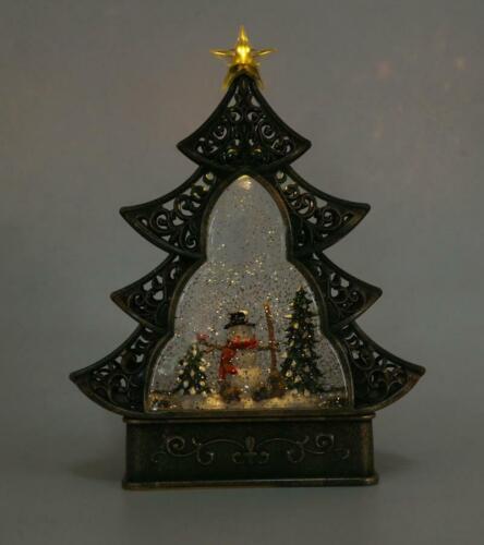 Aufleuchtend Weihnachtsbaum Krippenspiel Wasser Glitzer Schneekugel Heim Deko