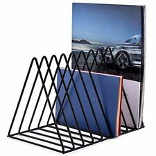Moxita File Folder Stand Desktop Organizer Triangle Wire Magazine Holder Rack 9