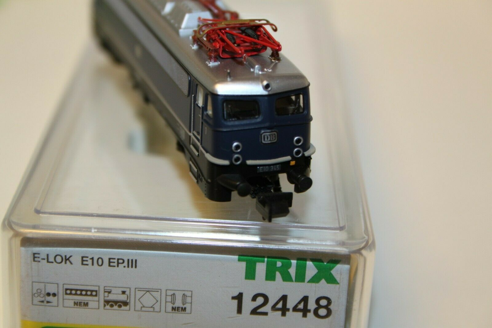 Minitrix-Nr.12448Elektrolok BR E 10 BlauDBNEU(056)
