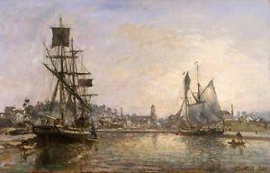 Maritime Marine Art Honfleur Johan Barthold Jongkind
