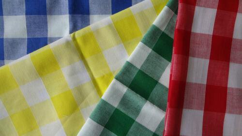 """Cuadros de poliéster y algodón Fat Quarters Material De Tela 1 /""""Cuadrado Rojo Azul Verde Amarillo"""