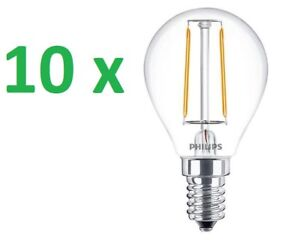 10 x Philips LED gotas lámpara de araña CLASSIC E14 Bombilla 2-25w Cálido 2700k