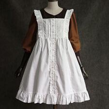 Sweet Lolita Vintage Gothic Fairy Cotton Cover skirt White Dress Mori Girls#5F67
