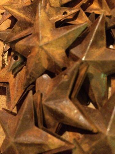 "150 Dimensional Rusty Barn Stars 2.25 in 2 1//4/"" Primitive Metal Rust 57mm *"