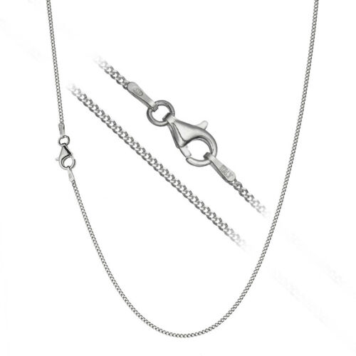 Solid 925 Sterling Silver Italian 1.5mm Cuban Curb Link Chain Necklace ALL SIZES