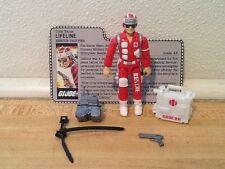 Vintage 1986 GI Joe Lifeline File Card Figure 100% Complete Medic