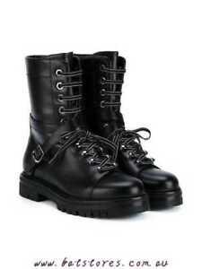 697d009d73a Details about VALENTINO GARAVANI Rockstud combat boots $1380 Size EUR 41 /  US 9.5-10