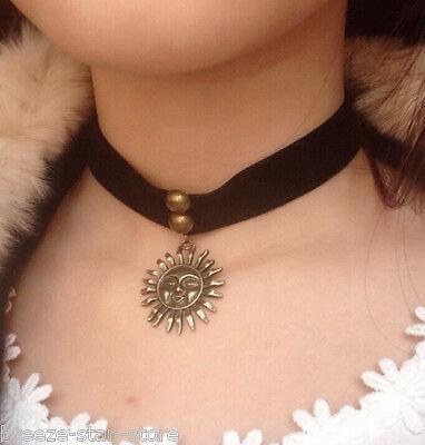 Léon The Professional Matilda Sun Velvet Choker 90s 80s Necklace Vintage Copper