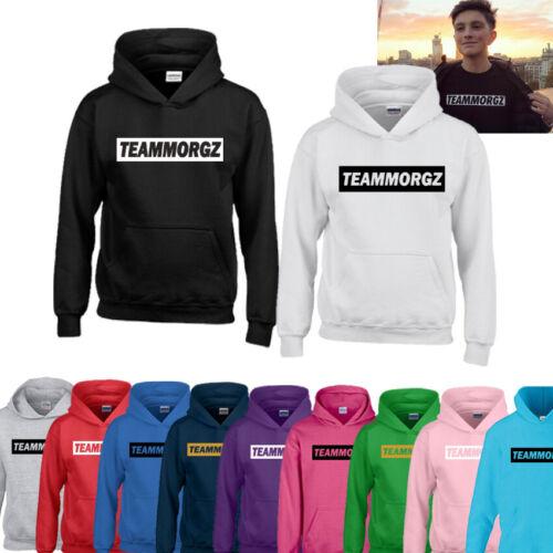 New Team Morgz Kids Boys Girls Hoodie Jumper Sweater Top Youtube Gift Xmas Gamer