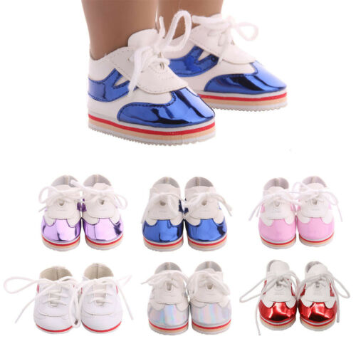Fashion Cute Doll Shoes For 18 Inch 45CM Doll Shoes Lace-up Shoes Accs