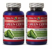 Weight Loss Pills Fat Burner For Men - Green Coffee Extract Cleanse 2 Bottles
