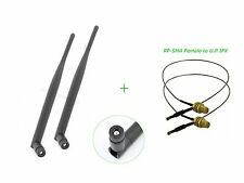 2x6dBi RP-SMA 2.4GHz 5GHz Indoor omni Antenna+12in U.FL cable for Belkin F7D8301