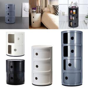Round Cupboard Drawer Abs Storage Unit