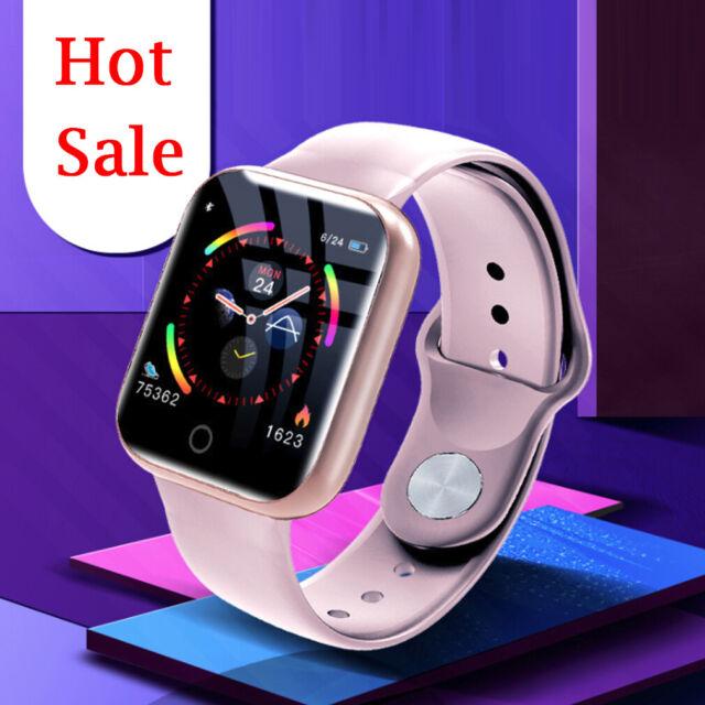 Damen Smartwatch Bluetooth Fitness Armband Wasserdicht IP67 Sport Uhr Tracker