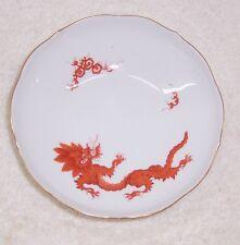 Meissen Ming Dragon Red Dessert Bowl