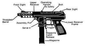 weapons manuals on cd intratec tec 9 22 mini 14 ruger 10 22 m60 rh ebay com Tec 9 Full Auto Tec 9 Full Auto Parts