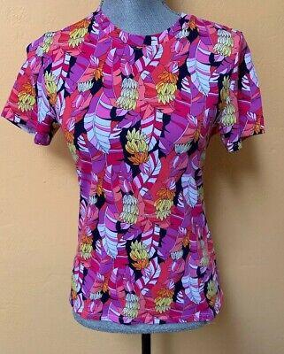 Tommy Bahama Ladies Thats Bananas Sun Protection  UPF 50 Shirt Size Medium