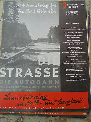 24321 Die Strasse. Die Autobahn 13 1938 1. Juliheft Reichsautobahn