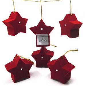Forma-di-stella-rosso-velluto-regalo-scatola-gioielli-vetrina-per-collana-ore-Mr