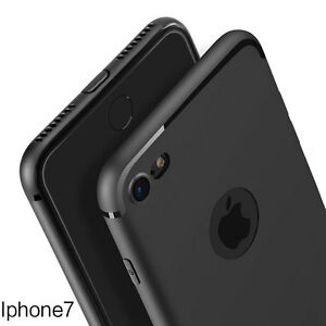 Antichoque-Fino-Silicona-Mate-Cuero-Sintetico-Funda-Carcasa-Para-Iphone-7-7-Plus