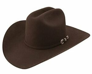 Stetson Mens 6X Bar None Fur Felt Western Hat