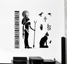 Vinyl Wall Decal Bastet Ancient Egyptian Cat Goddess Of Egypt Stickers 2207ig