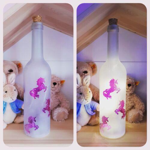 Lovely Decoration Ornament Unicorn Light Up Glass Bottle