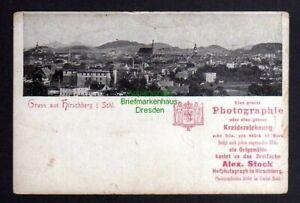 Diszipliniert 123043 Ak Hirschberg Schlesien Panorama Um 1900 Reklame Alex Stock Einfach Zu Verwenden Ehemalige Dt. Gebiete Schlesien