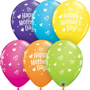 MOTHER-039-S-DAY-BALLOONS-10-x-11-034-HEARTS-amp-DOTS-MOTHER-039-S-DAY-PARTY-SUPPLIES
