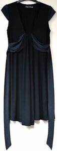River-Island-black-cap-sleeved-dress-size-12