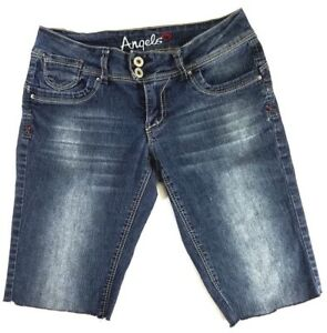 Angels-Jean-Shorts-Womens-Size-5-Cut-Off-Dark-Wash-Denim-Low-Rise-Summer-Wear