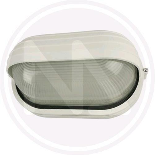 Plafoniera Ovale da Esterno Giardino Palpebra Maxi 100W Bianca 28x11,5x16,5 cm