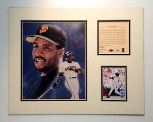 San Francisco Giants BARRY BONDS 1997 Baseball 11x14 MATTED Kelly Russell Print