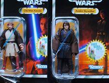 Star Wars Vintage Anakin Skywalker VC13 Obi Wan Kenobi VC16 ROTS MOC TVC Figures