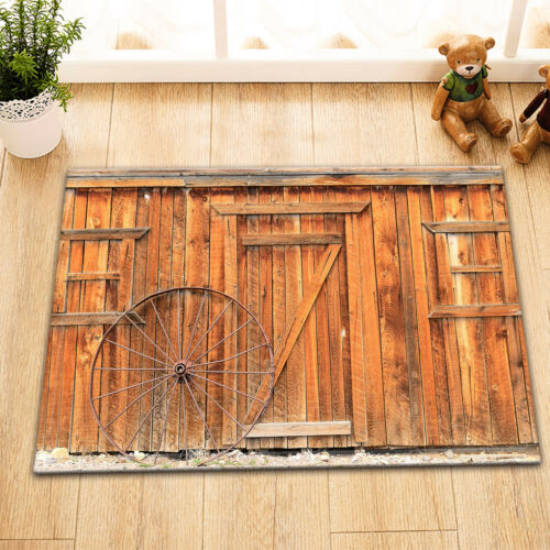 Small Rural Western Town Old Building Livery Stable Wall Fabric Shower Curtain
