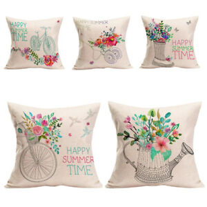 Home-Decor-Cushion-Cover-Happy-Summer-Time-Throw-Pillowcase-Pillow-Covers-2018-L